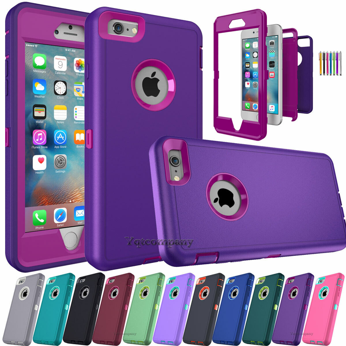 For iPhone 5S 6S 7 8 Plus XR 11 12 Phone Case Hybrid Shockpr