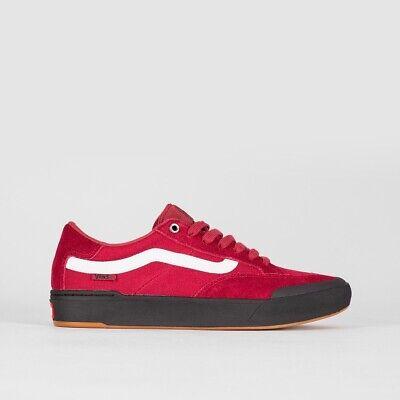 Vans Berle Pro Rumba Shoes Original Red Black Skates Sneakers Men's UK 8.5