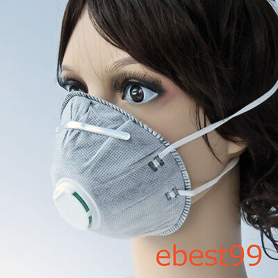 100 X Pig Mouth Mask Gear  Active Carbon Filter Dust/Toxic/Smell Gas Anti