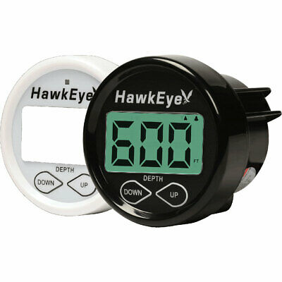 Hawkeye In-Dash Digital Depth Sounder with shoot thru / Tran