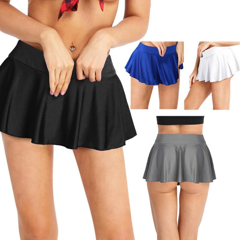 8f9a53594e Details about Womens Stretchy Mini Pleated Tennis Skirts Gym Running Active  Dress Inner Shorts