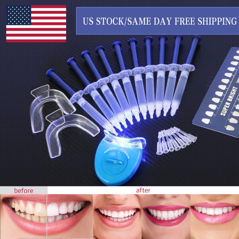 44% Teeth Tooth Whitening Whitener Bleaching Professional Kit White Gel Light US