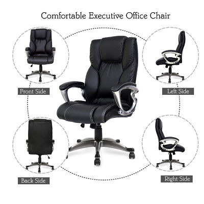 High Back Pu Leather Executive Swivel Computer Chair Ergonomic Office Desk Chair