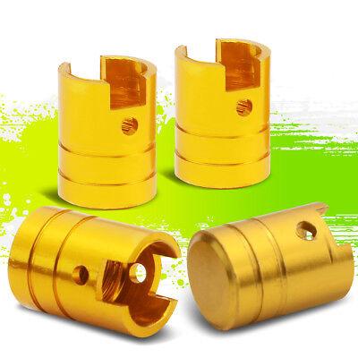 17x12MM ALUMINUM GOLD RIM/TIRE AIR PRESSURE PORT COVER PISTON VALVE STEM CAPS