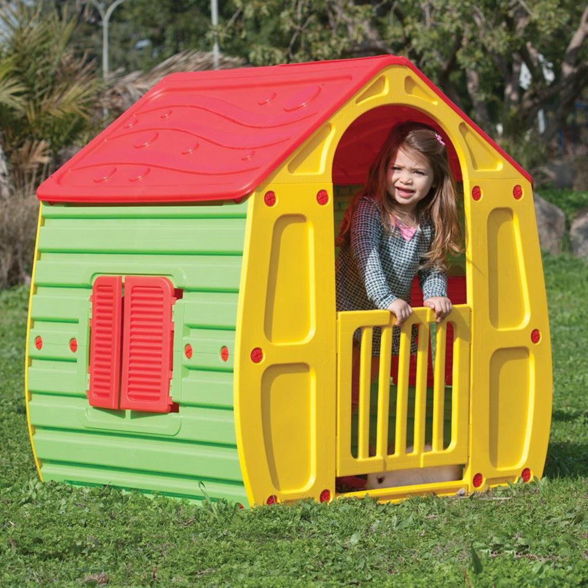 Kinderspielhaus Spielhaus Kinderhaus Kinder Spiel Garten Haus Gartenhaus bunt