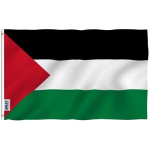 ANLEY Palestinian Flag Palestine Banner Polyester 3x5 Foot Country Flags