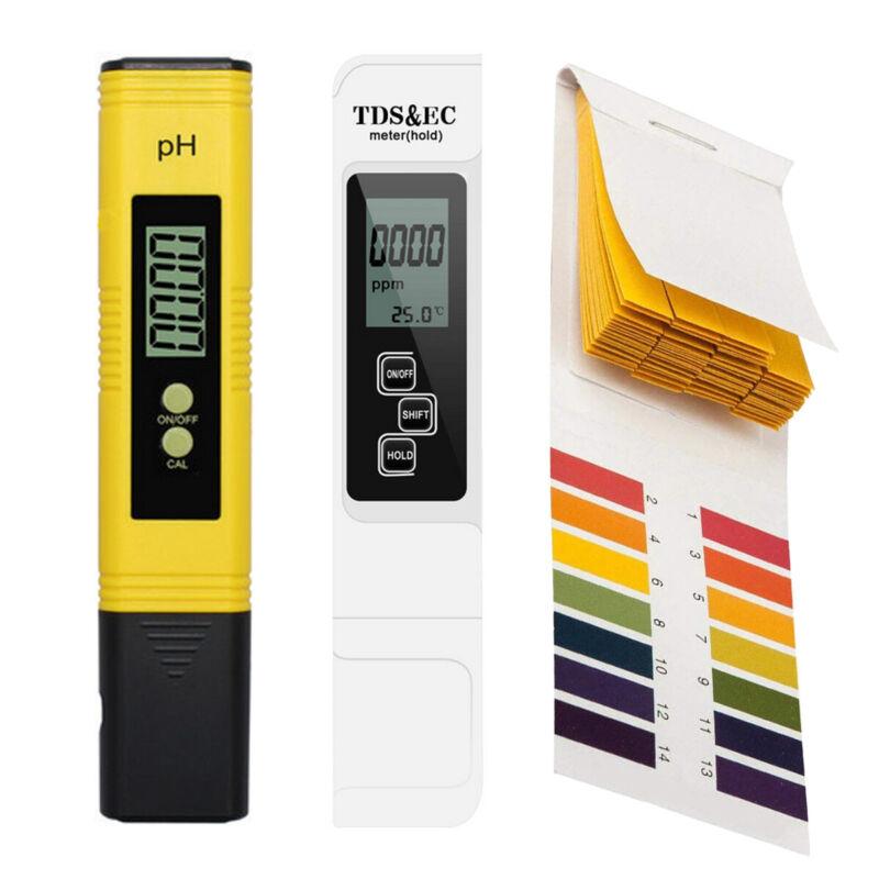 LCD Digital Water Quality Tester TDS EC/PH/PH PH Paper Meter&TEMP Swimming Pools