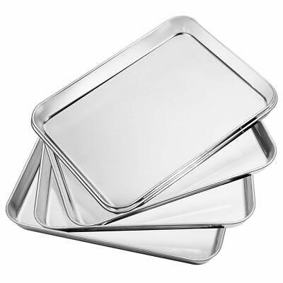 Stainless Steel Baking Pan Set of 5, Rectangle Size 10 x 8 x 1 inch,
