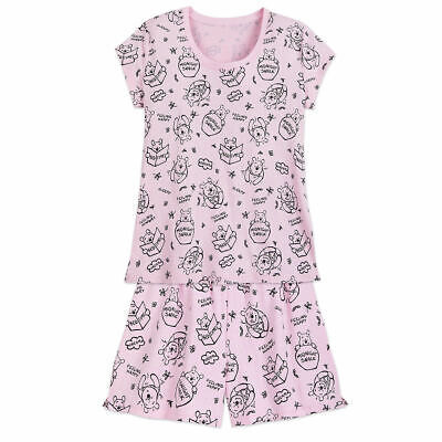 NWT Disney Store Winnie The Pooh Pajama set PJS Women Adult L Shortie