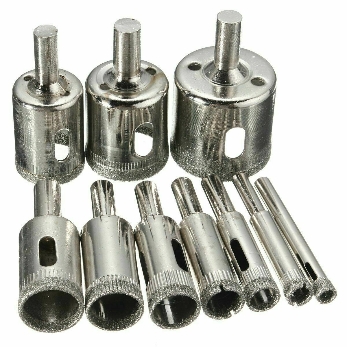 NEW DIAMOND DRILL BITS FOR GLASS CERAMIC TILE PORCELAIN HOLE MAKER SAW CUTTING SET