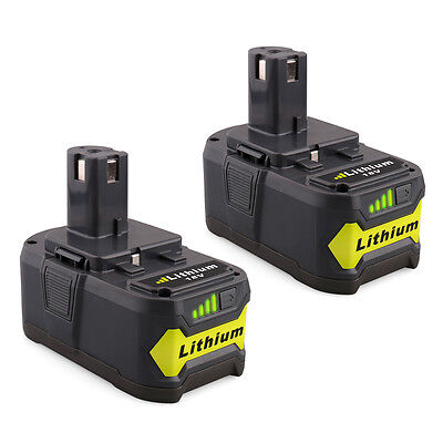 2 Pack New    18V 4 0Ah P108 Li Ion Replacement Battery For Ryobi 18V One  Tool