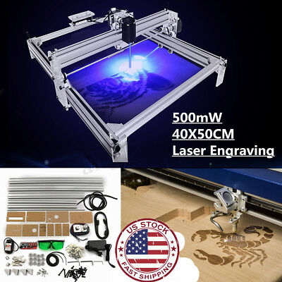 Mini Laser Engraving Machine 40x50cm Diy Logo Cutting 500mw Marking Wood Printer