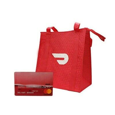 Official - Door Dash - Insulated Food Delivery Bags and Red Card