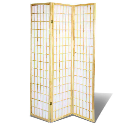 3 Panel Shoji Screem Room Divider/Privacy Wall With Rice Paper Screen Natural - Natural Room Divider Shoji Screen