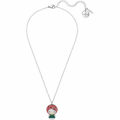 Swarovski Women's Pendant Necklace Hello Kitty Multi-colored Crystal 5373134