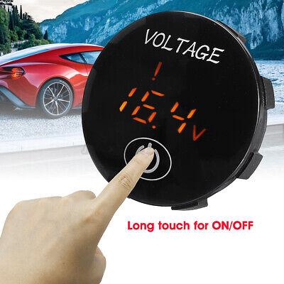 5v-48v Led Digital Voltage Voltmeter Panel Monitor Wtouch Switch Panel Kit Car