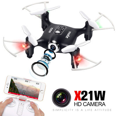 Mini Syma X21W WIFI FPV Real-time Selfie Drone Camera Quadcopter Gifts for X'mas