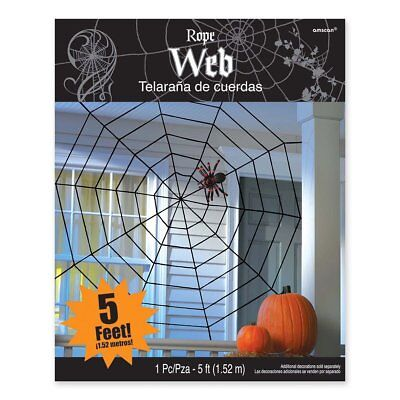 Giant Rope Spider Web 5' x 5' - Rope Spider Web