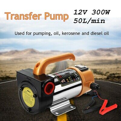 12v 300w Portable Diesel Fuel Oil Transfer Pump Self Priming Oil Pump 50lmin