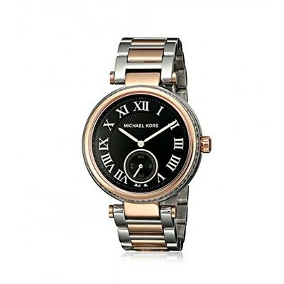 Michael Kors Skylar Black Dial Two-tone Ladies Watch NWT.