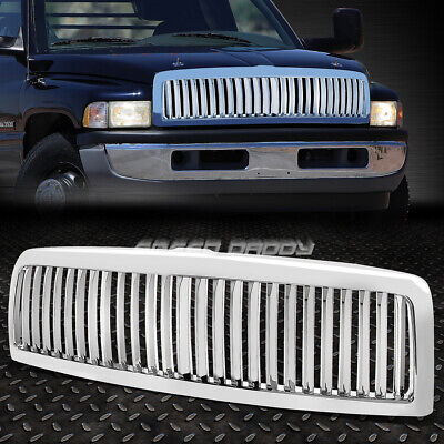 SPORT 1PC FRONT HOOD BUMPER GRILL/GRILLE/FRAME FOR 94-02 DODGE RAM BR/BE CHROME Br Chrome Grille Grill