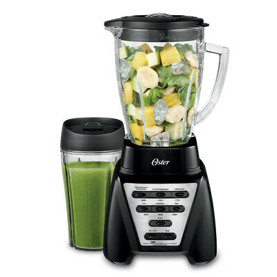 Oster Pro 1200 Plus Intermingling-N-Go Smoothie Cup - Black - Glass Jar BLSTMB-BBG-000