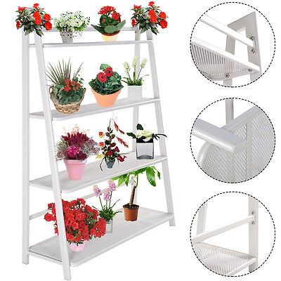 Heavy Duty Mesh Plant Flower Stand Shelves Pot Display Holder Garden