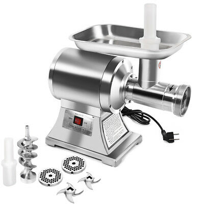 Commercial Grade 1hp Electric Meat Grinder 1100w Stainless Steel Heavy Duty 22