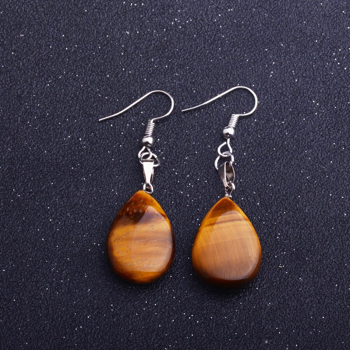 Vintage-Earring-Stud-Hook-Nature-Stone-Dangle-Jewelry-Retro-Girl-Women-Gift-Hot