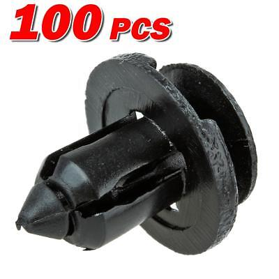 100x Nylon Front Bumper Grill Clips Rivet Retainer for 2000-2016 Nissan Sentra