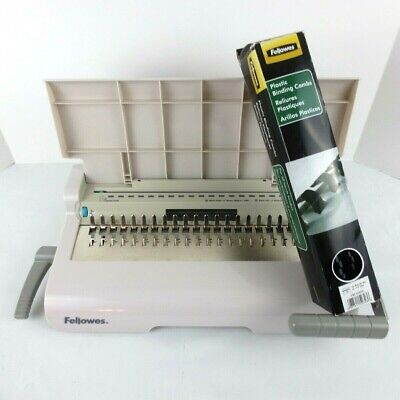 Fellowes Starlet 90 Personal Comb Binding Machine W Plastic Combs Included