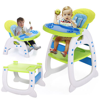 Infant 3 in1 Convertible Play Table Seat High Chair Booster Toddler Feeding Tray - Infant Feeding Table