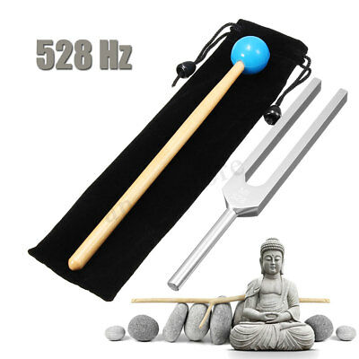 528hz Aluminum Medical Tuning Fork Chakra Hammer Ball Diagnostic Mallet Set