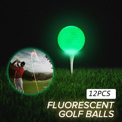 Glow In The Dark Golfballs (6 X Sports LED Golf Balls Glow in the Dark Night Light Up Luminous Random)