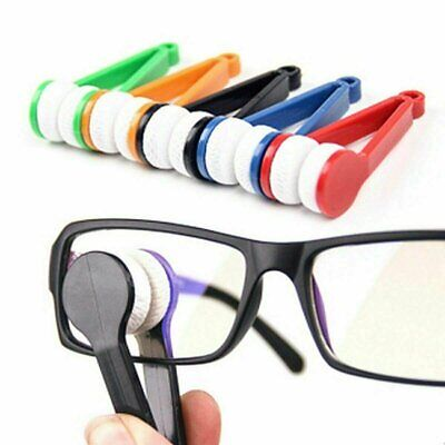 5-Pack Mini Sun Glasses Eyeglass Cleaner Brush Microfiber Portable Cleaning Tool Health & Beauty