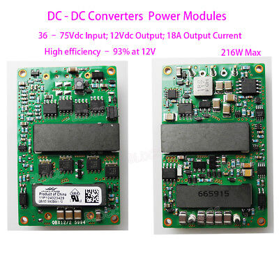 Qbw018a0b 18a Dc-dc Converter Isolated Power Module Input Dc 36-75v Output Dc12v