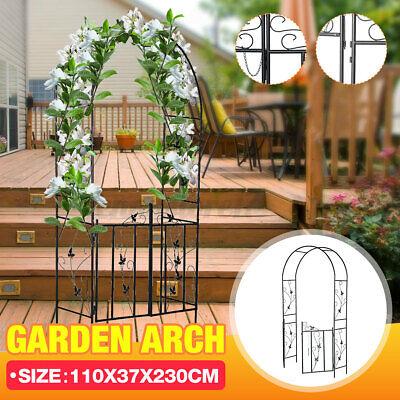 Metal Garden Arch Gate Trellis Wedding Plant Rose Climbing Archway Decor Patio