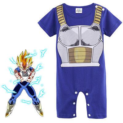 Baby Boy Dragon Ball Z Costume Romper Newborn Vegeta Outfit Infant Playsuit Gift (Dragon Ball Z Baby Costume)