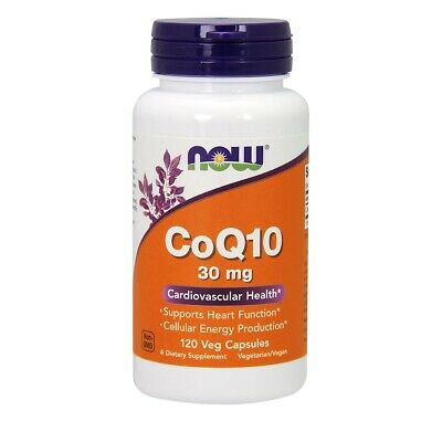 NOW Foods CoQ10 30 mg 120 Veg Capsules FREE SHIPPING. MADE I