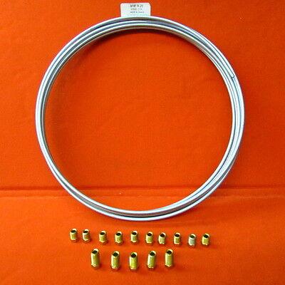 3/16 Steel Zinc Silver Brake Line Tubing Kt  x 25 ft Coil x w 15 ftg =  C3KIT