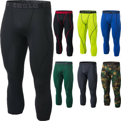 TSLA Tesla MUC18 Cool Dry Baselayer 3/4-Length Compression Pants