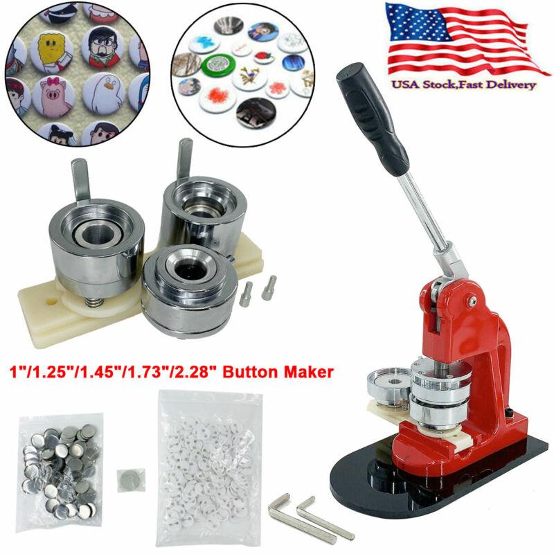 "1""-2.3"" Button Maker Punch Press Machine Die Mould 100-500 Pin Badge Button Part"