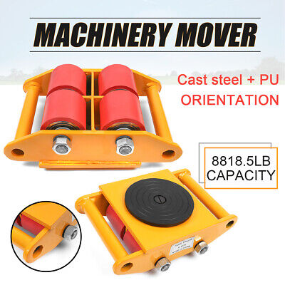 6T/13200lb Heavy Duty Machine Dolly Skate Machinery Roller Mover Cargo Trolley