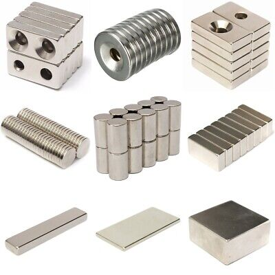Neodymium Magnet Countersunk Rectangle Round Disc Block Cylinder Bar Strong N Us
