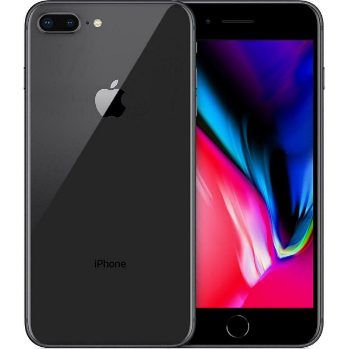 Apple iPhone 8 Plus 256GB Factory Unlocked AT&T T-Mobile Gray Smartphone
