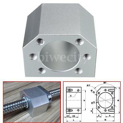 Aluminum Ballscrew Nut Housing Bracket Holder For 1604 1605 1610