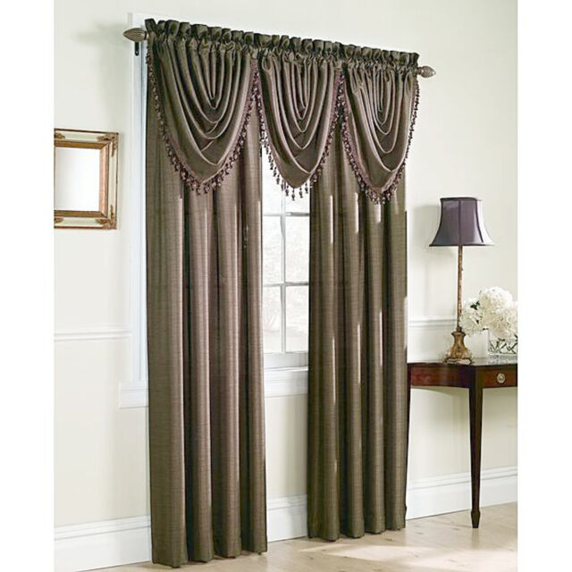 Silk Curtains Sears Whole Home 54x63 Gold Panel Curtains Set | eBay