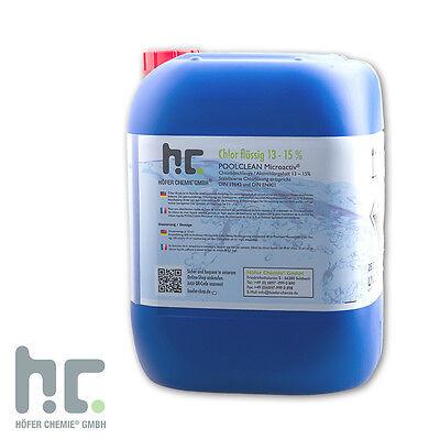 1 x 25 Kg Chlor 13% Flüssig Frische Ware
