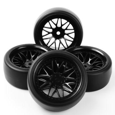 (1:10 On Road Car 12mm Hex 4 PCS PP0477 + BBNK Drift Tires Wheel Rim F HSP HPI RC)