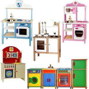 Cocina de juguete cocinita madera juego ni os ebay - Cocina ninos juguete ...